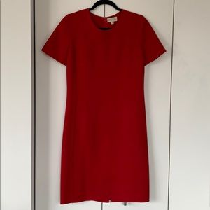 mila schön red wool dress